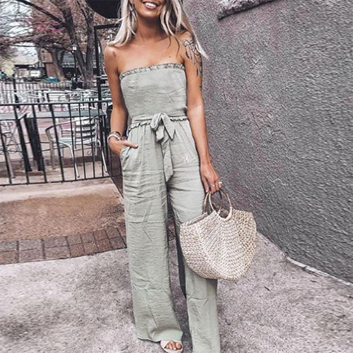 JOJORUBY Military Green Casual Style Jumpsuit