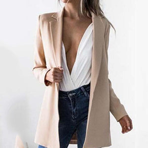 JOJORUBY Sexy Long Sleeves Lapel Slim Cardigan