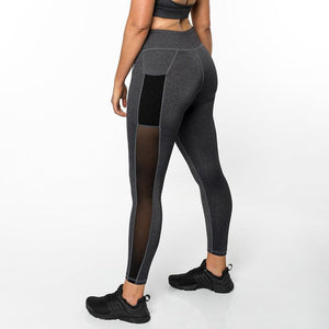 JOJORUBY Fashion Solid Color Slim Splice Yoga Sport Pants