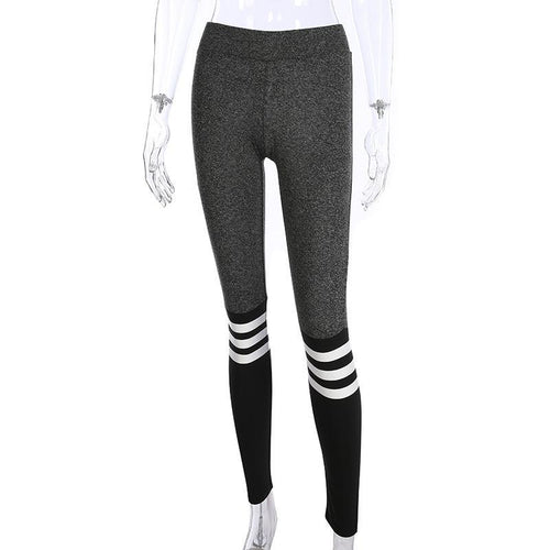 JOJORUBY Fashion Slim Splice Stripe Sport Yoga Pants