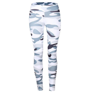 JOJORUBY Fashion Camouflage Slim Sport Yoga Pants