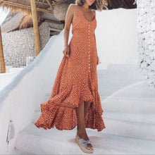 Load image into Gallery viewer, JOJORUBY Fashion Sexy Sleeveless Vacation Point Maxi Dress
