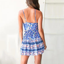 Load image into Gallery viewer, JOJORUBY Vacation Printed Shoulder Straps Slim Two-Piece Dress