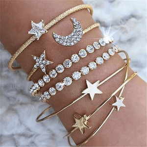 JOJORUBY Fashion Joker Star Moon Bracelet