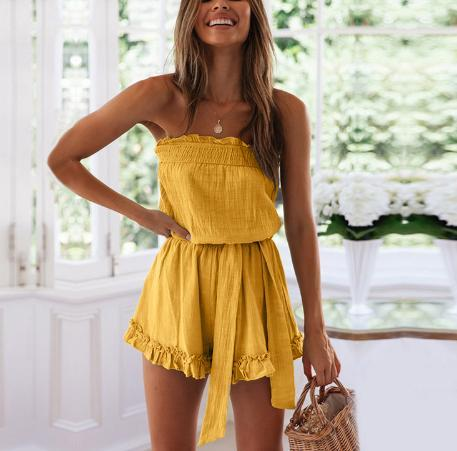 JOJORUBY Ruffled Sexy Summer Rompers