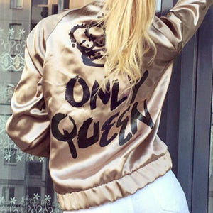Fashion Lettern Pattern Bomber Jackets