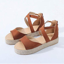 Load image into Gallery viewer, JOJORUBY Summer Plain Open Toed Thicken Sole Sandal
