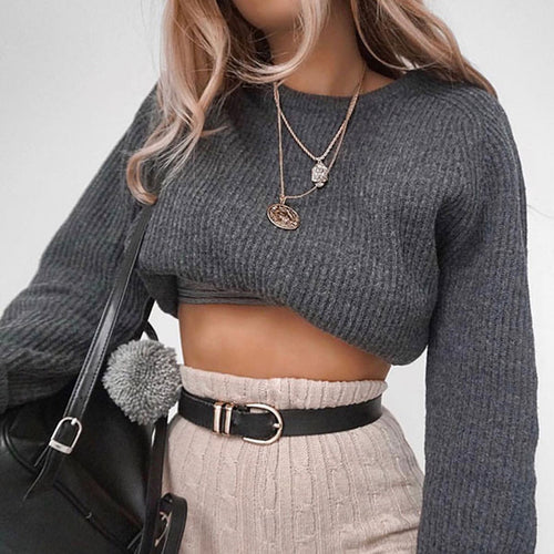 Fashion Knit Long Sleeve Sweater