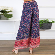 Load image into Gallery viewer, JOJORUBY Sexy Sling Wrapped Chest Strap Wide Leg Pants Printed Two-Piece Set