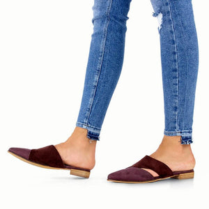 JOJORUBY Chic Pointed Toed Printed Hollow Slippers