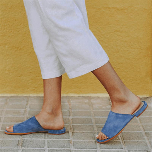 JOJORUBY Women Summer Espadrilles Fashion Peep Toe Flat Slipper