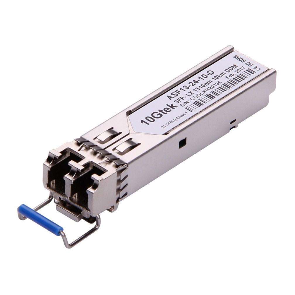 1000BASE-LX SFP transceiver, MMF/SMF, 1300-nm, up to 20-km