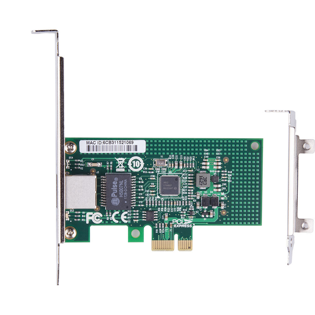 1.25Gbps Ethernet Converged Network Adapter, Compatible with Intel I210-T1