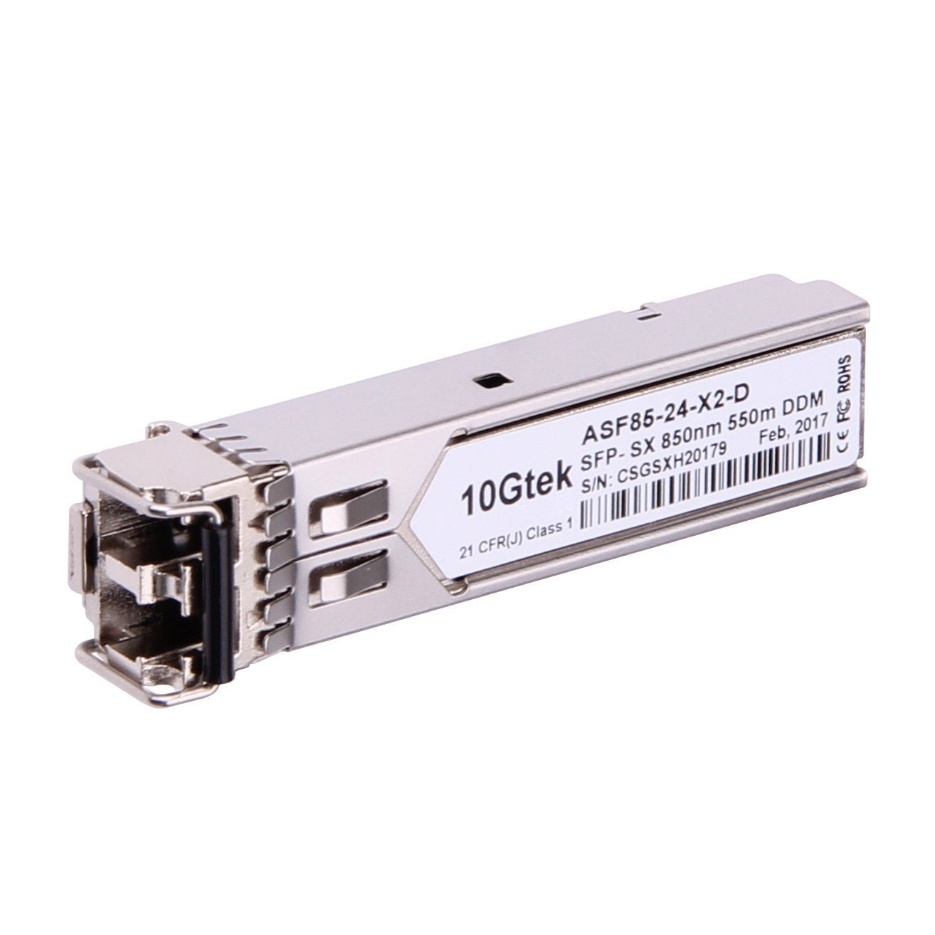1000BASE-SX SFP transceiver, MMF, 850-nm, 550-m