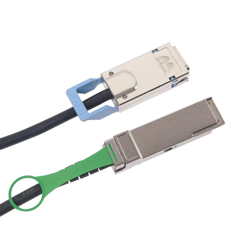 QSFP+(40Gbps) to CX4(SFF-8470) DDR Cable, Passive