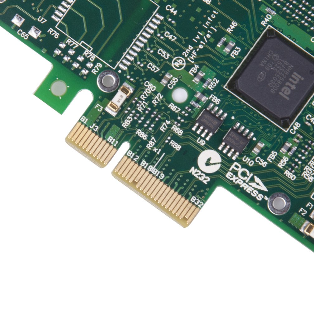 1.25Gbps Ethernet Converged Network Adapter, Compatible with Intel I340-T2, 82580 Controller