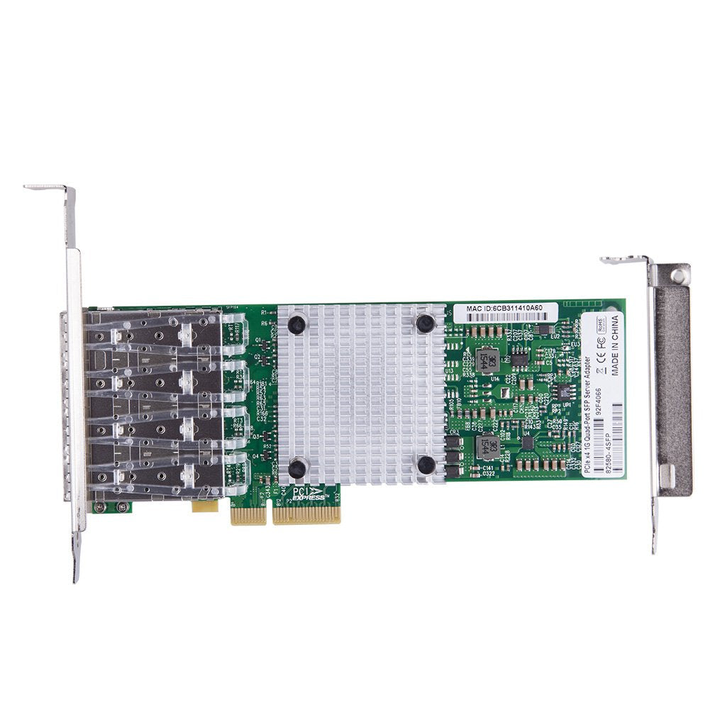 1.25Gbps Ethernet Converged Network Adapter, Compatible with Intel I340-F4