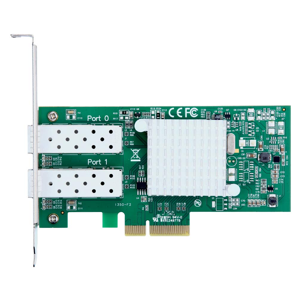 1.25Gbps Ethernet Converged Network Adapter, Compatible with Intel I350-F2