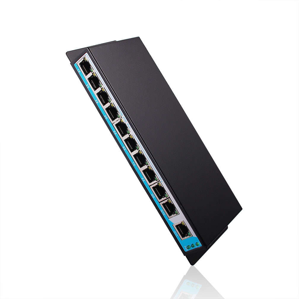 11-Port PoE Switch, with 8x 10/100Mbps PoE Ports, Unmanaged, 802.3af, 96W Power Budget, application for Access points, VoIP phone, IP Camera