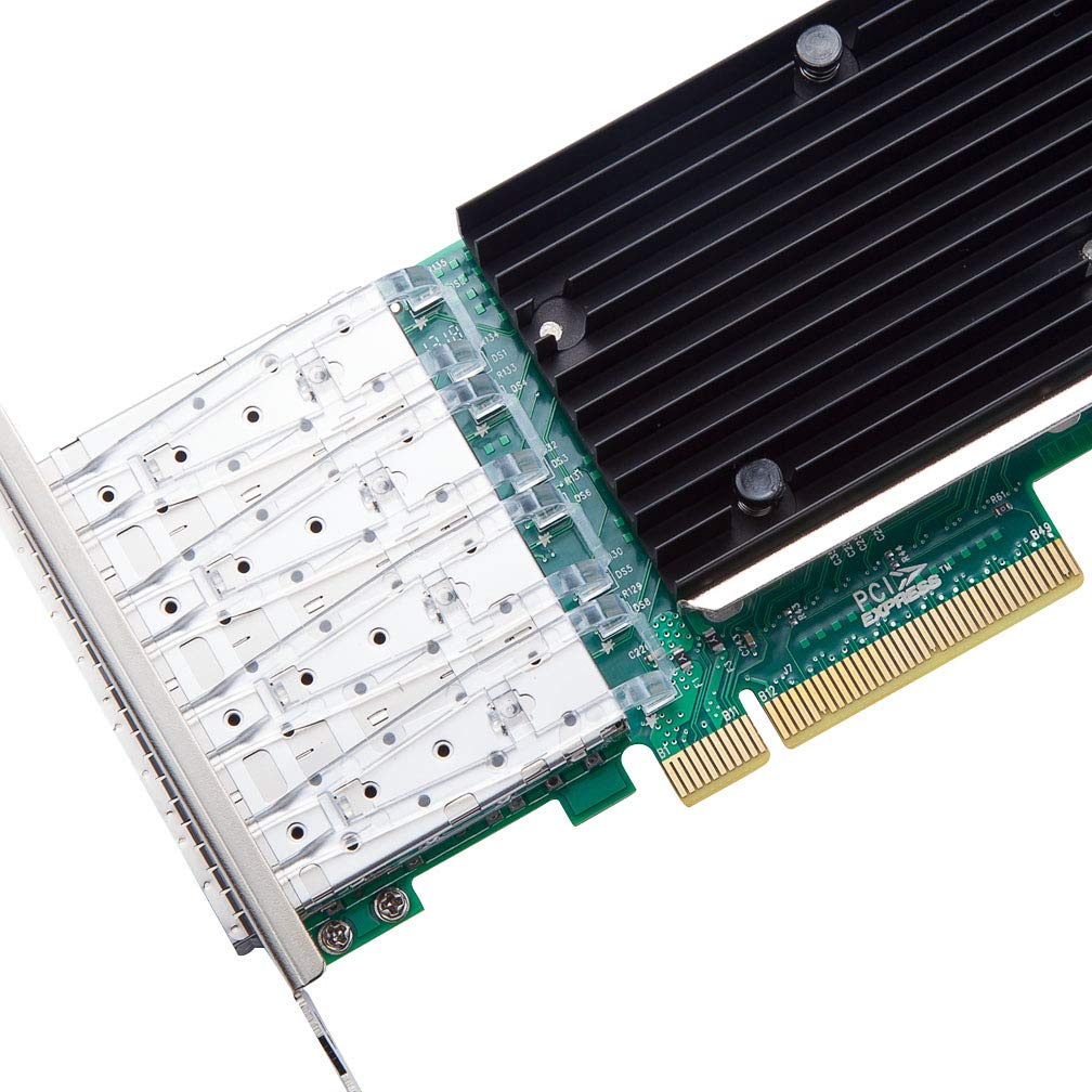 10G Gigabit Ethernet Converged Network Adapter, Compatible with Intel X710-DA4