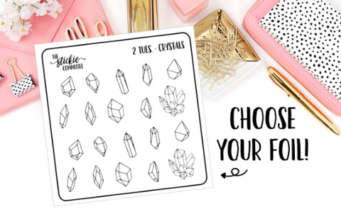 FOILED - 2 Tuesday Crystal Planner Sticker - thestickiecommittee