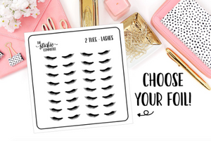 FOILED - 2 Tuesday Lashes Planner Sticker - thestickiecommittee