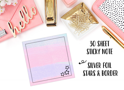 FOILED Sticky Notes // Pastel Stars // 30 Sheets - thestickiecommittee
