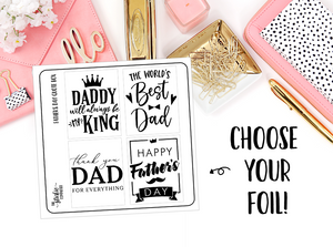 FOILED - Father's Day Quote Box Overlays - thestickiecommittee