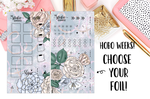 FOILED - Hobonichi Weeks 2-page Kits // 6 Designs // Choose your foil - thestickiecommittee