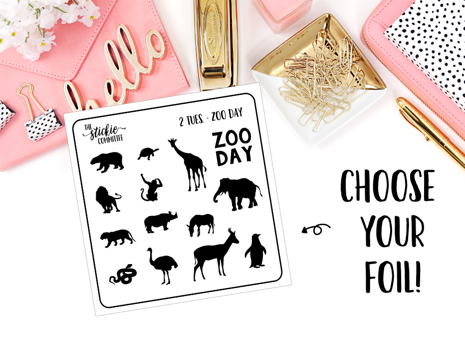 FOILED - 2 Dollar Tuesday // Zoo Day, Zoo Animals - thestickiecommittee