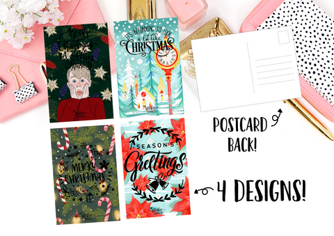 Gold FOILED Holiday Postcards // A6 Size Foil Dashboard // Planner Accessories // 4 X 6 Postcard - thestickiecommittee