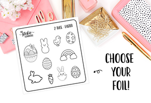 FOILED - 2 Tuesday Easter // Planner Stickers // Foil Overlay - thestickiecommittee