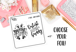 FOILED - 2 Tuesday Baby Easter // Planner Stickers // Foil Overlay - thestickiecommittee