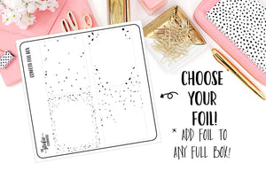 FOILED - Clear Full Box Confetti Overlay - thestickiecommittee