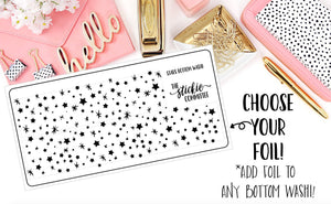 FOILED - Clear Stars BOTTOM WASHI Overlay - thestickiecommittee