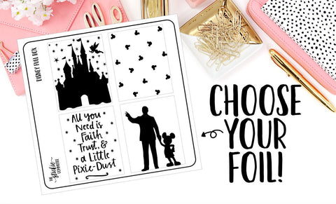 FOILED - Disney Full Box Overlay - thestickiecommittee