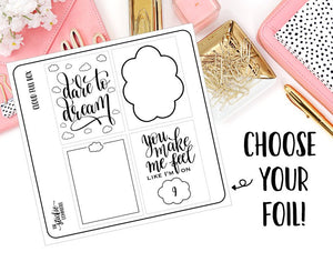 FOILED - Cloud Full Box // Planner Sticker - thestickiecommittee