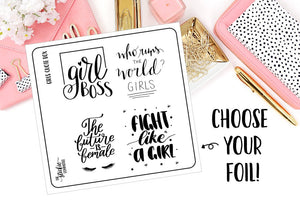 FOILED - Girl Boss Quote Box Overlays - thestickiecommittee