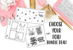Foiled - Easter Overlay Sticker Set // Clear Overlay Planner Stickers // (BUNDLE BARGAIN PRICE)