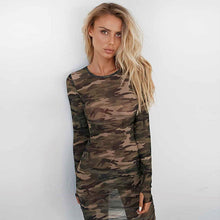 SHEER CAMO Dress - Coco & Mumu Co.