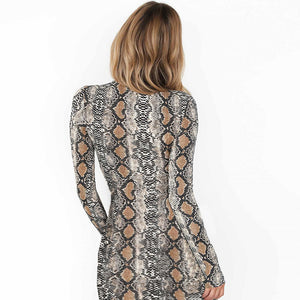 KIKI SNAKE PRINT Dress - Coco & Mumu Co.