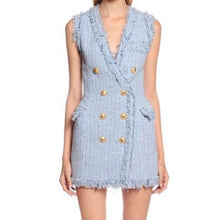 Coco Blue Tweed Dress - Coco & Mumu Co.