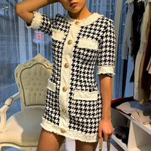 Houndstooth Tweed Dress - Coco & Mumu Co.