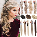 "SNOILITE 18""-26"" Women Synthetic Claw on Ponytail Clip in Pony Tail Hair Extension Curly Style Hairpiece ponytail hair extension"