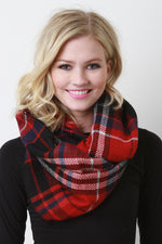 Checker Thread Infinity Scarf, Accessories, Scarves - Fizici.com | Women's Fashion & Clothing, Footwear & Accessories 2018