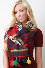 Colorful Pine Tree Scarf, Accessories, Scarves - Fizici.com | Women's Fashion & Clothing, Footwear & Accessories 2018