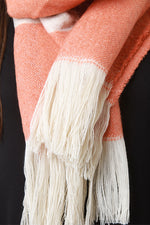 Fringe Hem Colorblock Scarf, Accessories, Scarves - Fizici.com | Women's Fashion & Clothing, Footwear & Accessories 2018
