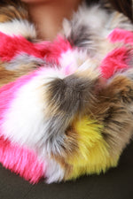 Colorful Furry Circle Scarf, Accessories, Scarves - Fizici.com | Women's Fashion & Clothing, Footwear & Accessories 2018