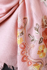Floral Embroidered Frayed Scarf, Accessories, Scarves - Fizici.com | Women's Fashion & Clothing, Footwear & Accessories 2018