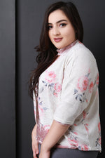 Knit Rose Print Cardigan, Plus Sizes, Tops + - Fizici.com | Women's Fashion & Clothing, Footwear & Accessories 2018